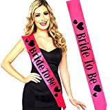 #7: WOBBOX Bride To Be Satin Sash Bachelorette Party Bridal Shower Wedding Decorative Signs Accessories