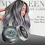 Hunpta DIY Haar Lehm Wachs Schlamm Färbung Creme Großmutter Haar Asche Dye Temporary (Grau)
