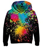 Goodstoworld 3D Painting Hoodie Teenager Mädchen Jungen Pullover Coole Druck Lange Ärmel Kapuzenpullover Kapuzensweatshirt