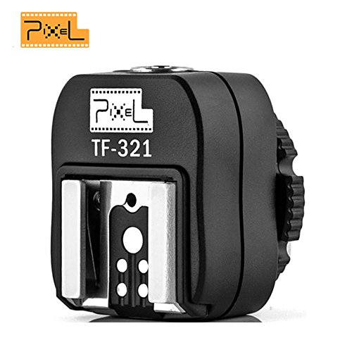 Pixel TF-321 E-TTL Flash Hotshoe Adapter with PC Connection Port for Canon EOS Cameras and Canon 580EX, 580EX II, 550EX, 430EX, 430EX II etc