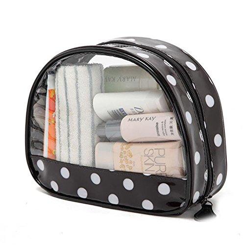 DELEY Transparente Viaje Cosméticos Maquillaje Organizador Neceser Bolsa De Almacenamiento