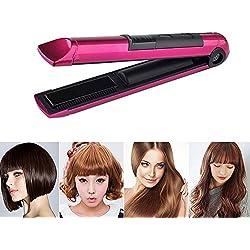 Fer à lisser sans fil Umiwe Hair, Mini fer à repasser rechargeable USB avec plaque chauffante flottante 3D recto-verso et fer à défriser à température réglable pour garder vos cheveux sans frisottis