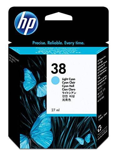 HP 38 Cartouche d'encre d'origine Vivera Pigmenté Cyan Clair