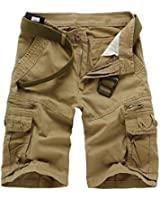 Crazy Men's Casual Outdoor Relaxed Cotton Army Cargo Shorts Pants