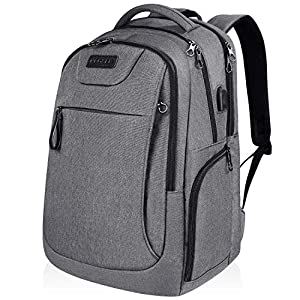 KROSER Laptop-Rucksack 39,6 cm (15,6 Zoll), wasserabweisend, mit USB-Ladeanschluss Camouflage Grau 15.6 Inch