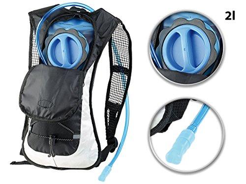 Xcase Trinkrucksack: Ultraleichter Fahrrad-Rucksack mit 2-Liter-Trinksystem und Reflektoren (Velorucksack)