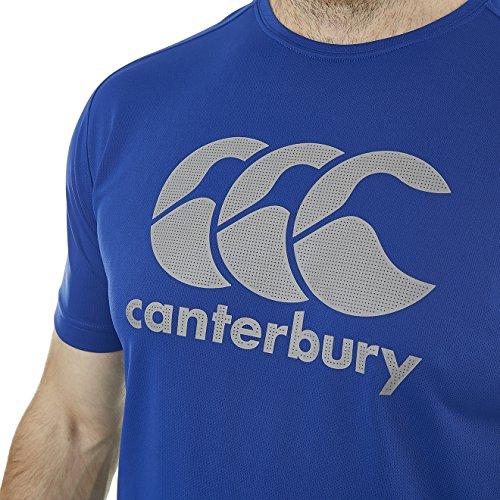 Canterbury Vapodri Poly Rugby-T-Shirt Herren Königsblau