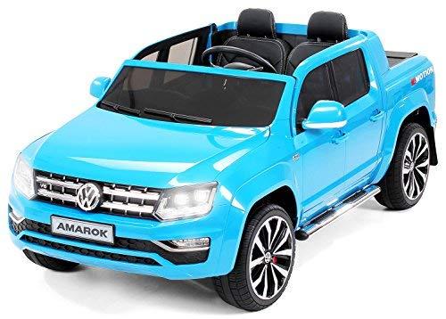 Actionbikes Motors Kinder Elektroauto Volkswagen Vw Amarok SUV - Lizenziert - 2-Sitzer - Eva Vollgummireifen - Fernbedienung - Elektro Auto für Kinder ab 3 Jahre - Kinderauto Spielzeug(Blau)