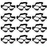 Baoblaze 12 Piezas Bateo de Baloncesto Profesional Driblar Gafas de Entrenamiento - Negro