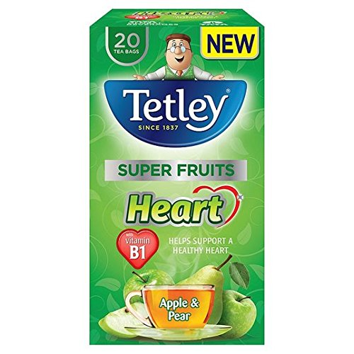 A photograph of Tetley Super Fruits range