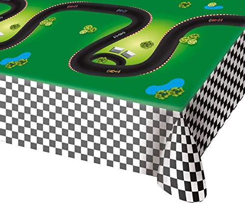 Folat Kunststofftischdecke * Formula RENNSTRECKE * für Kindergeburtstag oder (Party Cars Geburtstag)