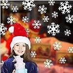 Queta decorazioni natalizie fiocchi di neve adesivi elettrostatici finestra di vetro adesivi di Natale Vetrofanie fiocco di neve