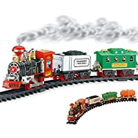 jmv Choo Choo Train Track Set with Smoke Emission for Kids