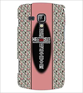 PrintDhaba Typographic Cross D-3358 Back Case Cover for SAMSUNG GALAXY S DUOS S7562 (Multi-Coloured)