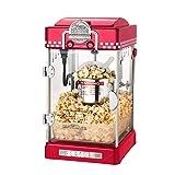 DUANJY Party Popcorn Maschine Edelstahl Antihaft-Pfanne Kleine Haushalt Kommerzielle Elektrische Popcorn-Maschine (rot)