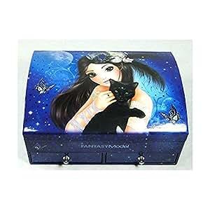 Boîte à bijoux TOPModel Fantasy bleue