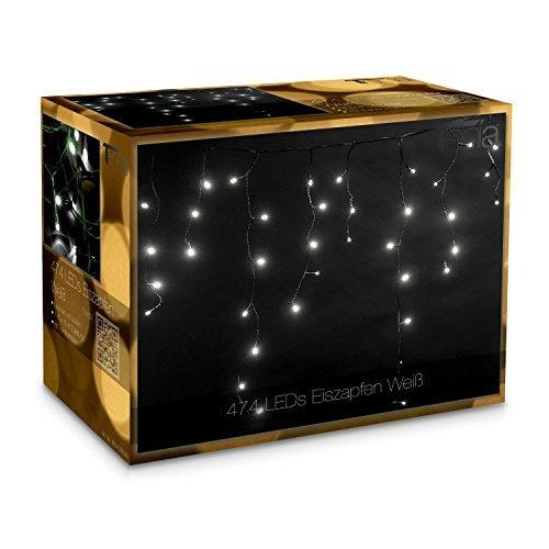 474 LED Tenda luminosa Natale Luci a cascata 7m Interni/esterni bianco freddo