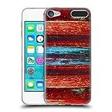 Head Case Designs Offizielle Peter Barreda Holz Blau Detail Soft Gel Hülle für Apple iPod Touch 6G 6th Gen