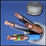 Installationskabel NYM-J 5x2,5 mm² - Kunststoff Installationsleitung - 25m / 25 m / 25 meter -PVC - grau