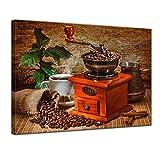 LVLUOYE Premium Leinwand Bild - Vlies Wandbild drucke - Kaffeemühle - Essen Trinken - Kunstdruck auf Leinwand - Modern Deko für Wohnzimmer Wohnung Schlafzimmer,80x60cm