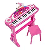 SIMBA 271 349 952,6 cm My Music World Girls Debout Clavier avec Tabouret