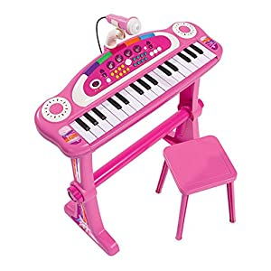 Simba 106830690 Girls Keyboard Piano with Stool Organ