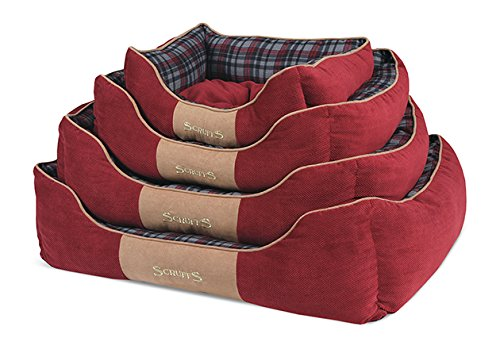 Scruffs-Highland-Dog-Bed-Large-75-x-60-cm-Red