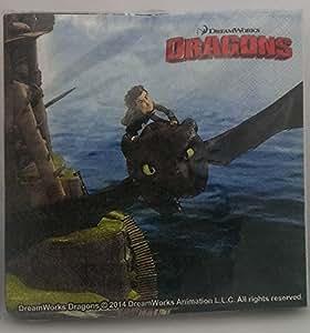 """Dreamworks """" Dragons"""" Dragons 20 Serviettes du film Anniversaire d'enfant"""