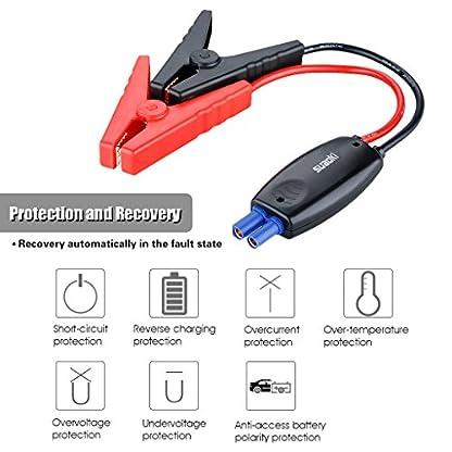 Suaoki – Cable de Pinzas Inteligente para Suaoki arrancador (12V, Arranque de vehículo, Emergencia Kit, Uso inteligente)