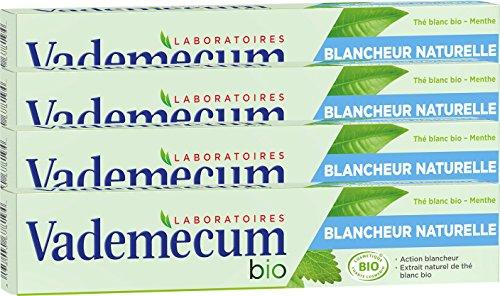 Vademecum - Dentifrice - Bio Blancheur Naturelle - Tube 75 ml - Lot de 4