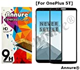 #10: Annure® OnePlus 5t Tempered Glass Screen Protector for One Plus 5t - Black