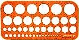 Professionelles Schablone für Kreise und Form 1-36mm