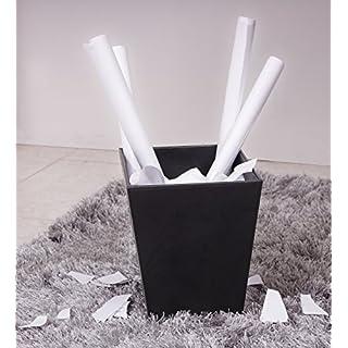 Andrea House PA09013-Papierkorb, Schwarz, aus Leder 28x 23x 27cm