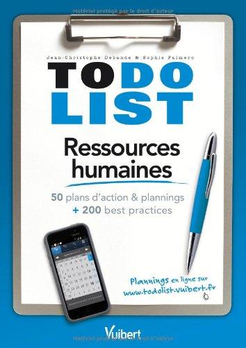Ressources humaines - 50 plans d'action & plannings et 200 best practices par Jean-Christophe Debande