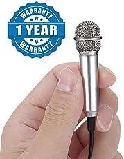 captcha Metal Ultra Mini Jack 3.5mm Studio Lavalier Professional Handheld Microphone Compatible with Smartphones (Multicolour, Recorder_220_1)
