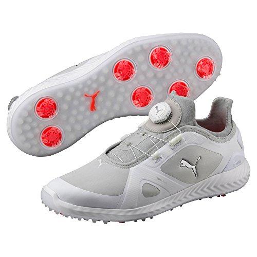 Puma Chaussures de Golf pour Homme - - Blanc/Gris, 10.5 UK