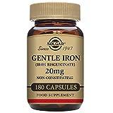 Solgar, Gentle Iron, 20 mg, 180 Veggie Caps