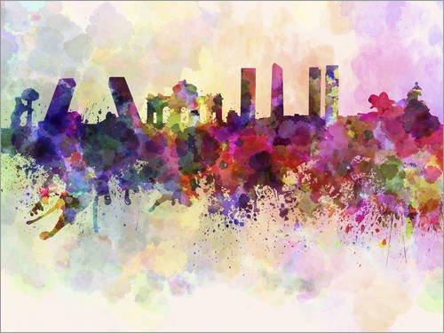 Posterlounge Lienzo 80 x 60 cm: Madrid Skyline Editors
