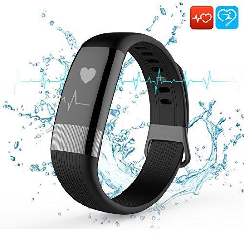 [Aktualisierte Version] Fitness Armbänder, Beneray Bluetooth Activity Tracker mit EKG, Herzfrequenz, Blutdruck und Temperatur Monitor, Smart Armband mit Kalorien Zähler, Distanz und für iPhone X/8