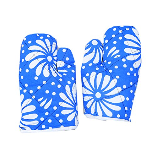Kuber Industries™ Cotton Microwave Oven Gloves 18 X 32 CM (Set of 2)-KI19398  available at amazon for Rs.199