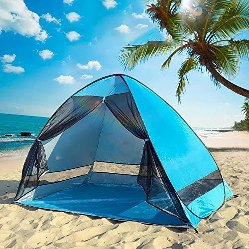 Automatisch sofortiger Knall tragbares Strand-oben Zelt, wasserdichtes kampierendes Zelt, im FreienSonnenschutz mit Tragetasche UPF 50 + UVschutz verwendbar für Familie Garten / Camping / Fischen /