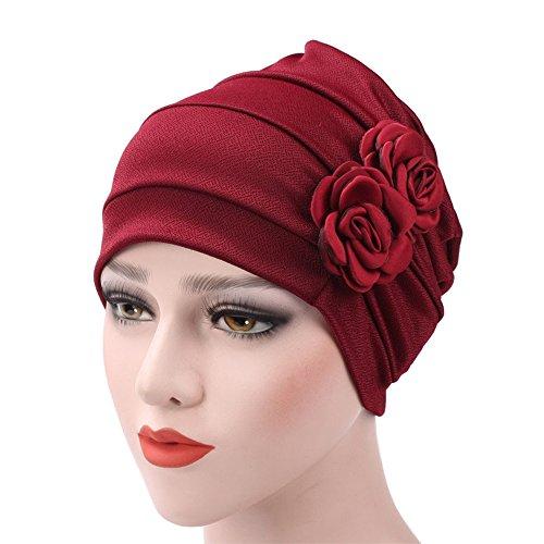 d4393ad22cc65a WETOO Damen Blume Muslim Turban Chemo Krebs Cap Kopftuch Kopfbedeckung