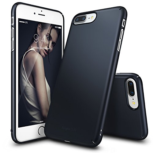 Cover per iPhone 7 Plus in plastica dura Ultra-Sottile (Nero)