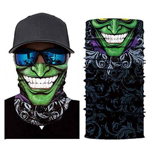 Maske Kostüm Basketball - Bescita Bedrucktes Multifunktionstuch Bandana Halstuch Kopftuch: Face Shield aus Mikrofaser - Material ist flexibel und atmungsaktiv - Maske fürs Motorrad-, Fahrrad- und Skifahren 2pc