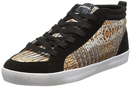 Desigual Shoes_Classic Mid G, Scarpe Sportive Indoor Donna, Oro (DORADO8010), 39 EU