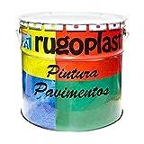 Pintura monocomponente para suelos y garajes (hormigón, morteros de cemento y derivados) al clorocaucho alta dureza varios colores (15L, Gris) Envío G