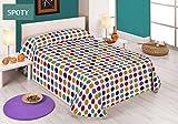 Sabanalia Spoty - Colcha estampada (disponible en varios tamaños y colores), cama 90 - 180 x 280