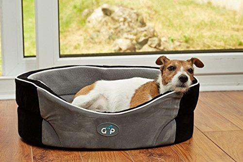 Gor-Pets-Manhattan-Premium-Dog-Bed-Comfortable-Washable-35-inch-Black-Grey