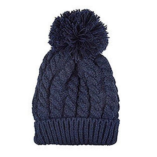 Maglieria di lana cappello caldo più di velluto iParaAiluRy unisex alla moda morbido Cannabis Cappellino in inverno e primavera - Angelo Visiera Clip