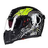 LL Motorrad Full Helm Doppel-Visor Full Face Motorbike Outdoor Männer und Frauen,4,XL